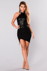 Peni Sequin Top - Black