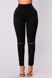 Very Lacey Leggings - Black