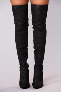 Out Of This World Over The Knee Boot - Black