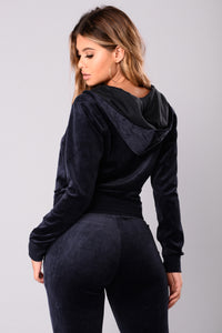 The Original Trendsetter Velour Jacket - Navy