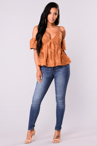 Let Love In Lace Top - Mustard