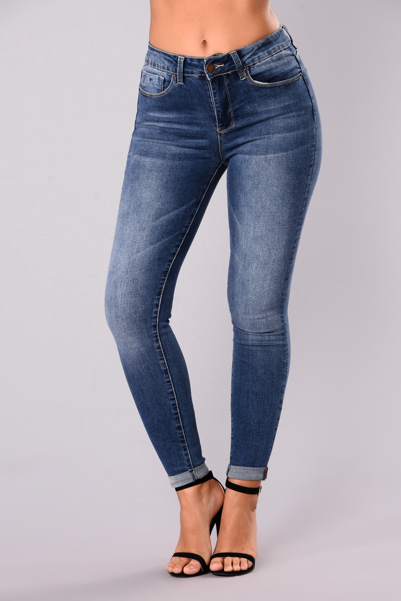 A Denim Affair Ankle Jeans - Medium Blue Wash