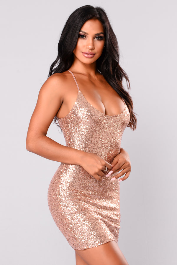 d93a866524a Baby Tonight Sequin Dress - Rose Gold