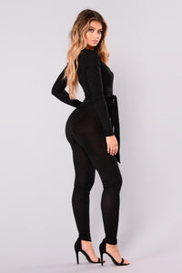 Jump To Conclusions Jumpsuit - Black