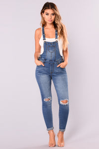 Browyn Overalls - Medium Blue Wash