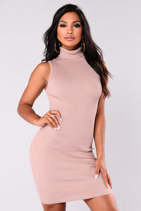 Evangelina Knit Dress - Mocha