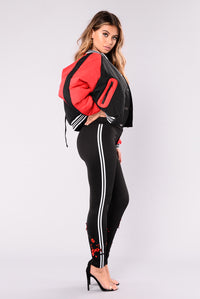 Downtown after Dark Jacket - Black/Red