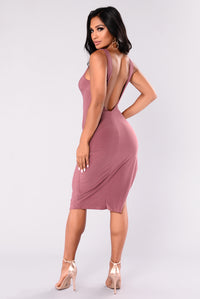 Richelle Midi Dress - Red Brown