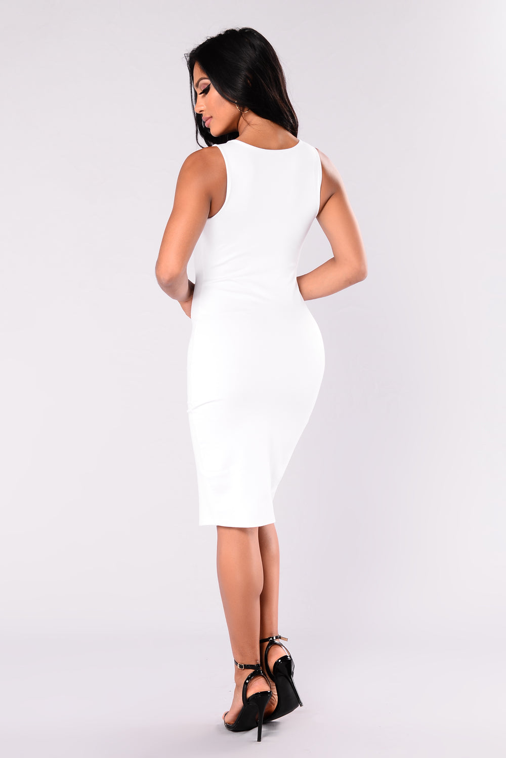 Bryanne Zipper Dress - White
