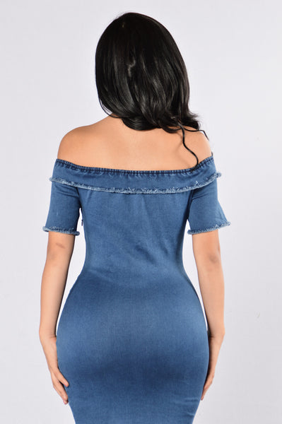 Double Dutch Dress - Dark Denim