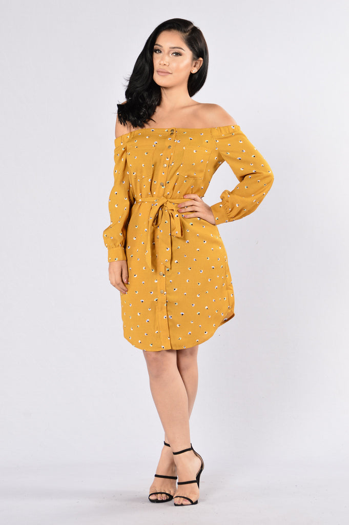 Dandelion Wish Dress - Mustard