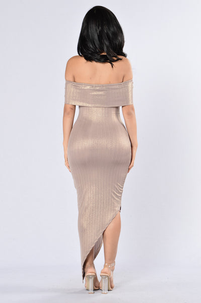 Lavish Lover Dress - Champagne