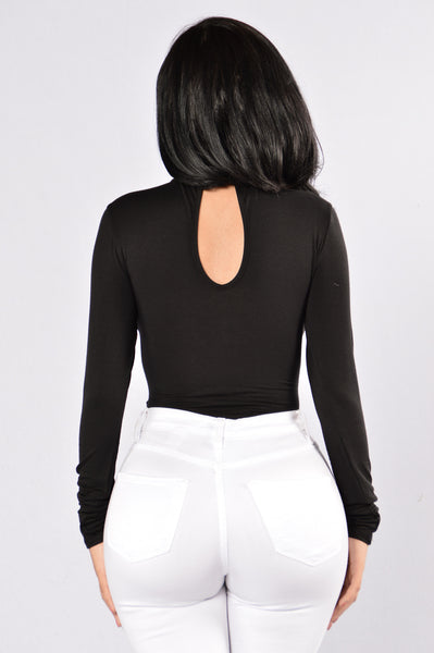 Key To Your Heart Bodysuit - Black