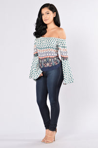 Gypsy Heart Top - Teal