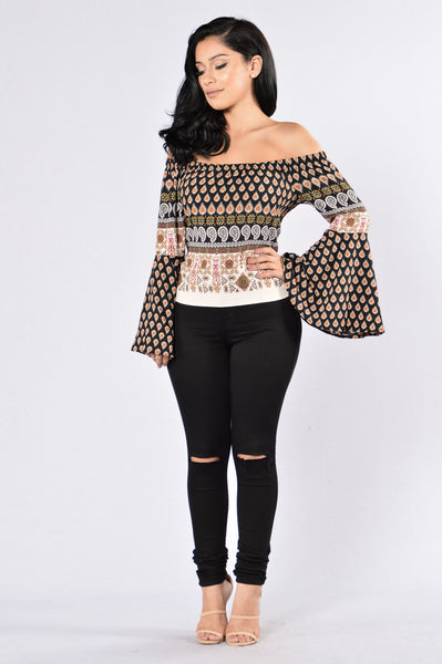 Gypsy Heart Top - Black