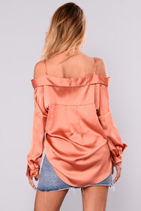 You Wish Off Shoulder Top - Amber