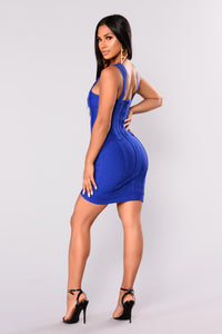 Lisbon Bandage Dress - Royal