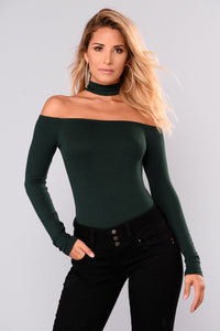 Delina Choker Top - Hunter Green