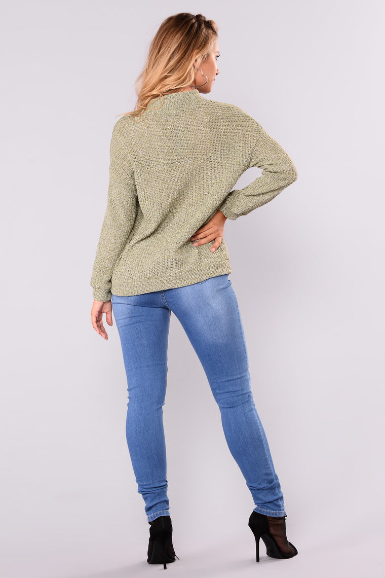 Only Love Sweater - Olive