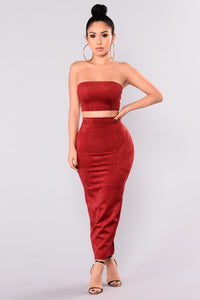 Very Structured Suede Skirt Set - Rubi