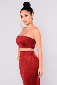 Very Structured Suede Skirt Set - Rubi Angle 7