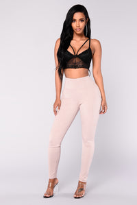 Smooth Operator Suede Leggings - Taupe