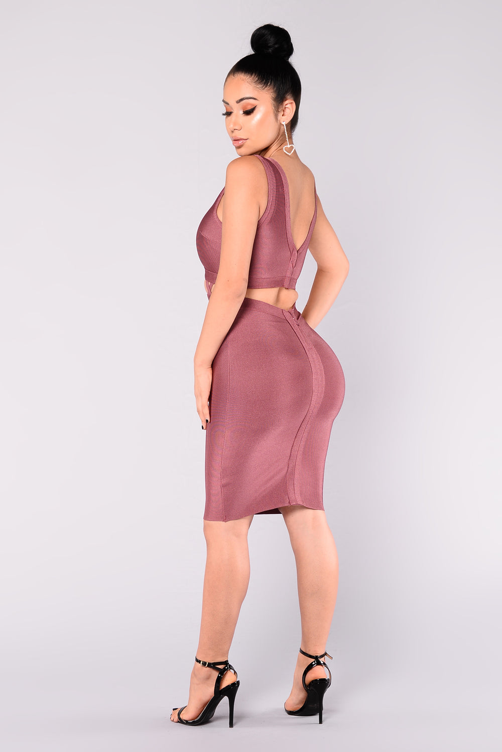 Haley Bandage Dress - Mauve