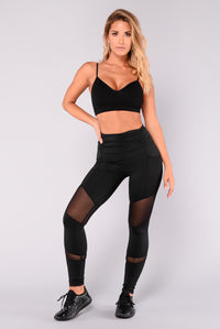 Sarina Mesh Active Leggings - Black