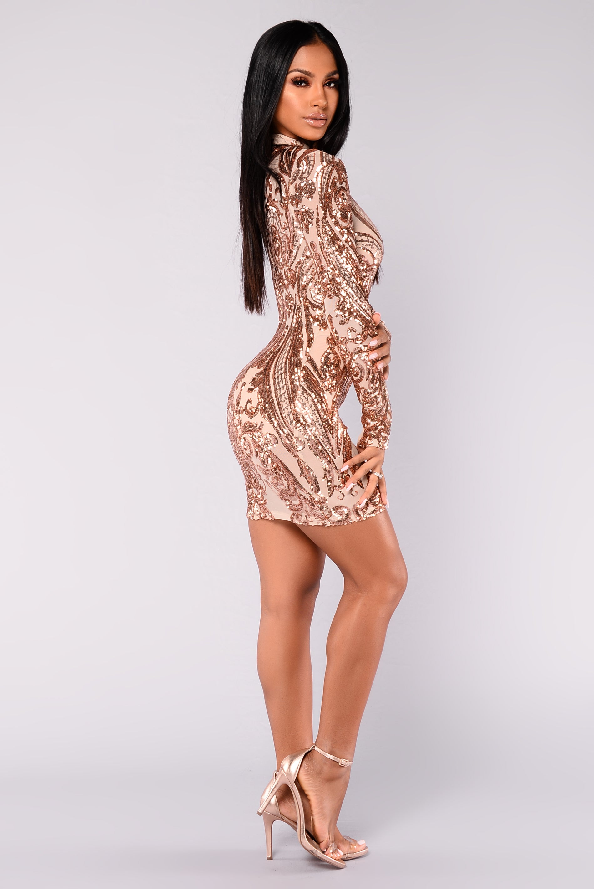 0fd14e34 Talitha Sequin Dress - Rosegold