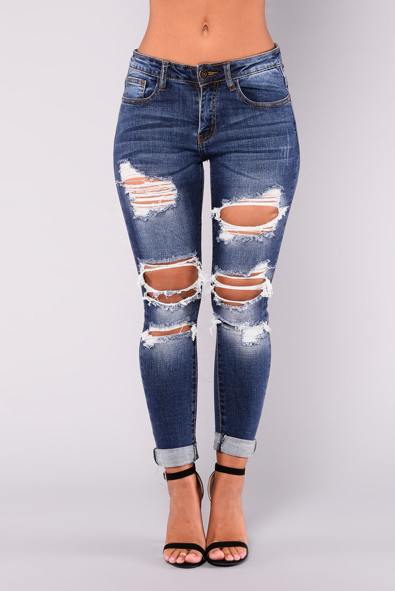 Waited For You Ankle Jeans - Medium Wash