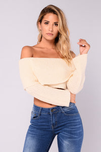 Cruz Off The Shoulder Sweater - Ivory