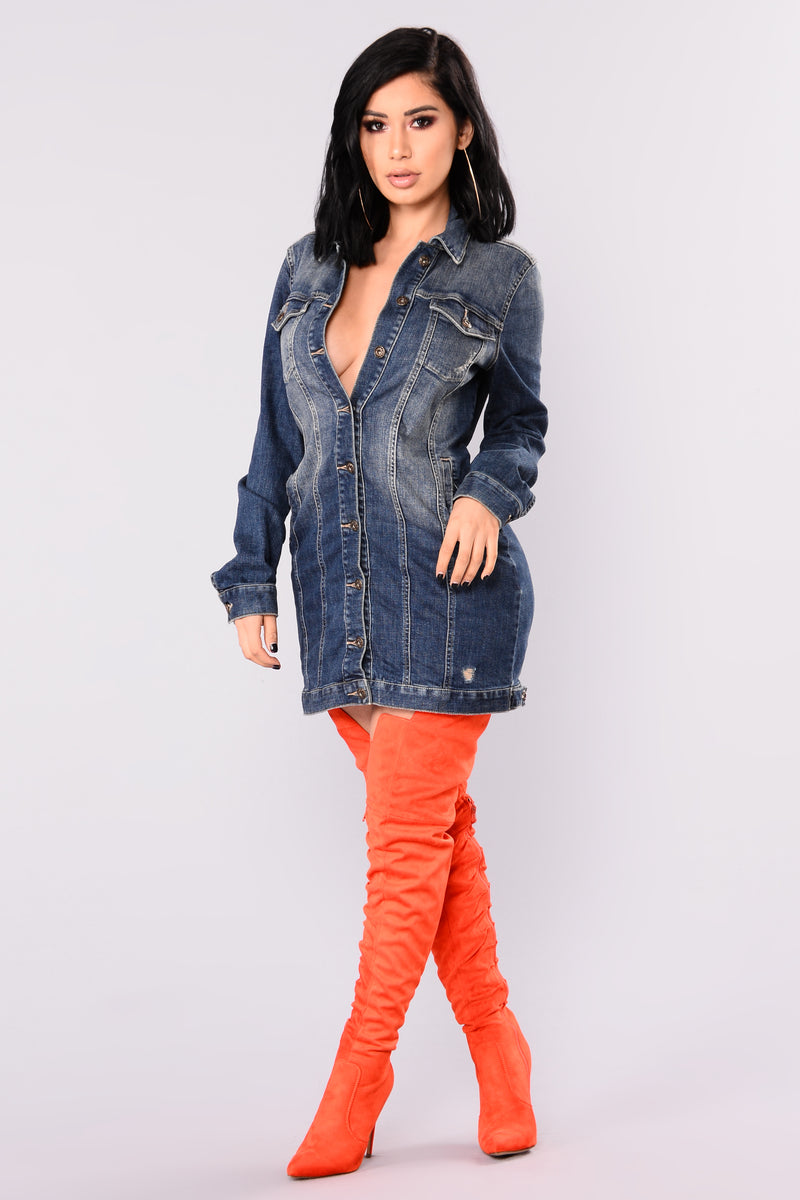 Arlington Denim Dress - Medium