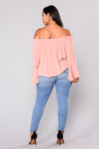 Lady Antoinette Bell Sleeve Top - Mauve