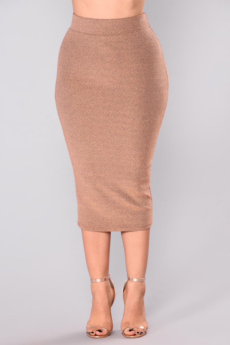 Let Them Know Skirt - Rose Gold