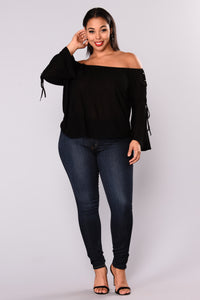 Bedroom Secrets Off Shoulder Top - Black