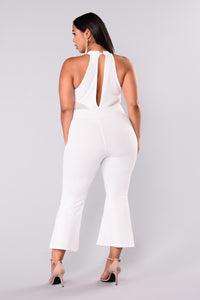 Something About You Jumpsuit - White