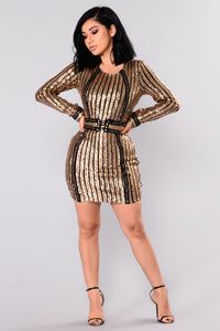 Milan Sequin Dress - Gold