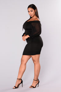 Pour It Up Party Dress - Black