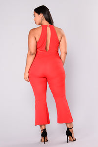 Something About You Jumpsuit - Red