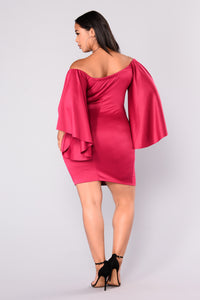 You Look Good Mini Dress - Fuchsia