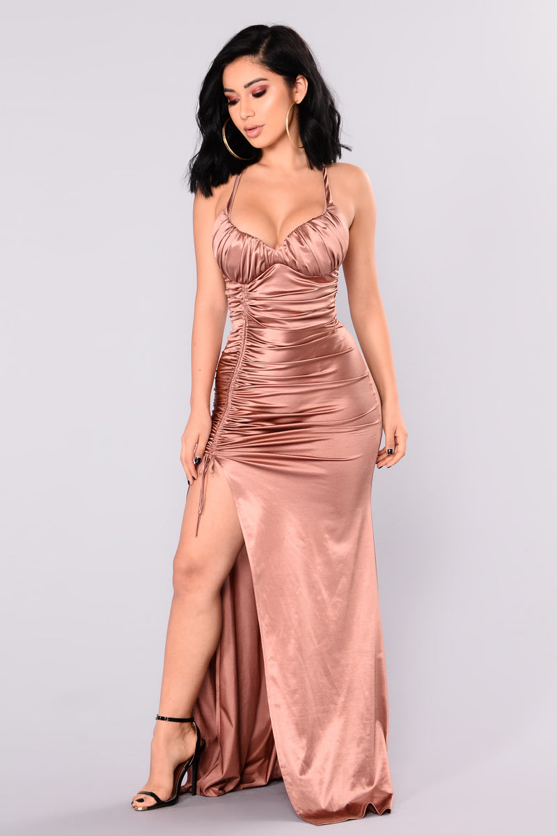 Roxanna Mermaid Satin Dress - Coco