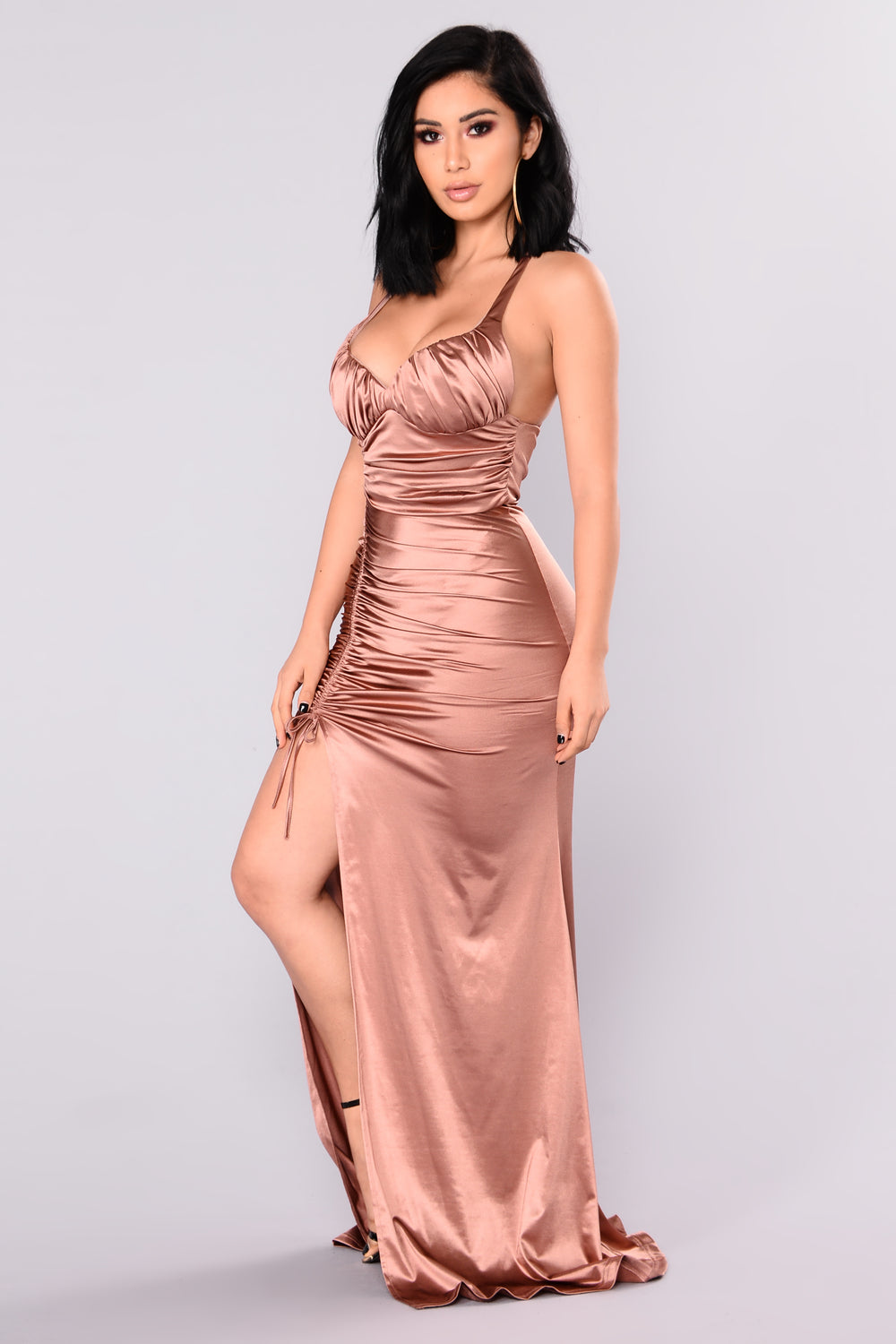Roxanna Mermaid Satin Dress Fashion Nova