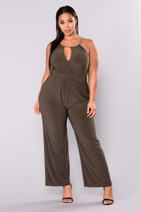 Bad At Love Jumpsuit - Olive