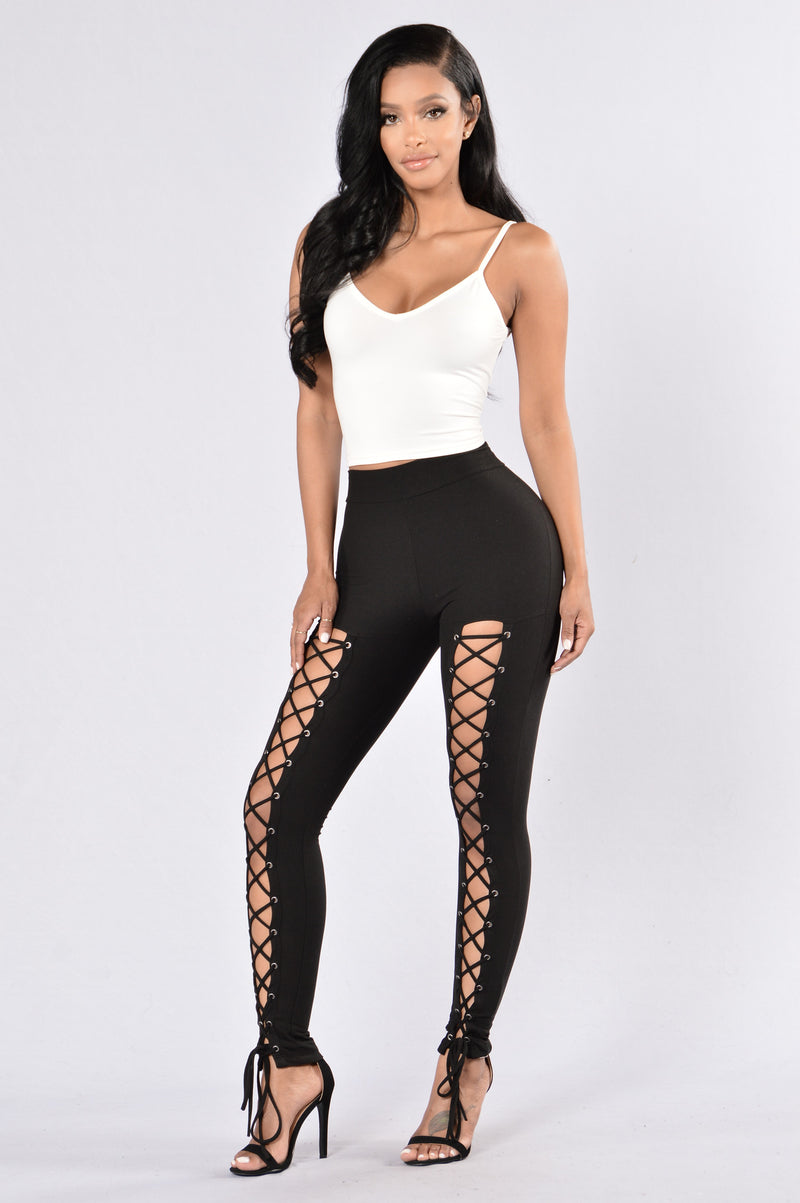 womens tights in black