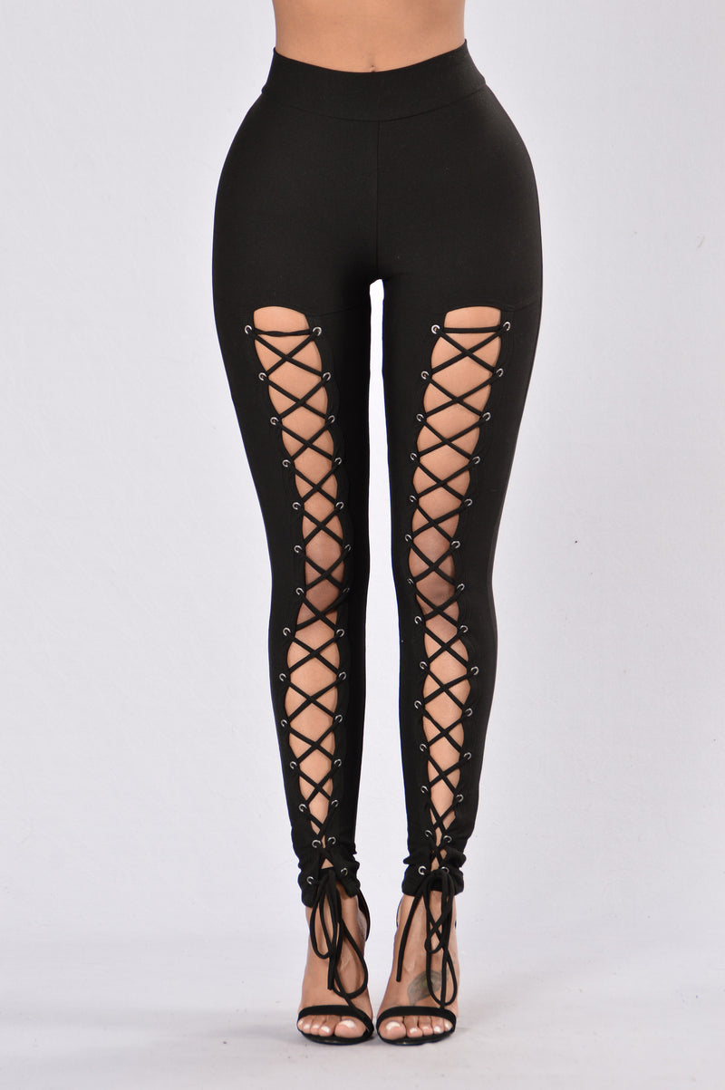 Cute style black leggings for women going out club