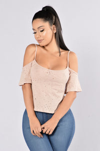 Chill Day Top - Dusty Rose Angle 1