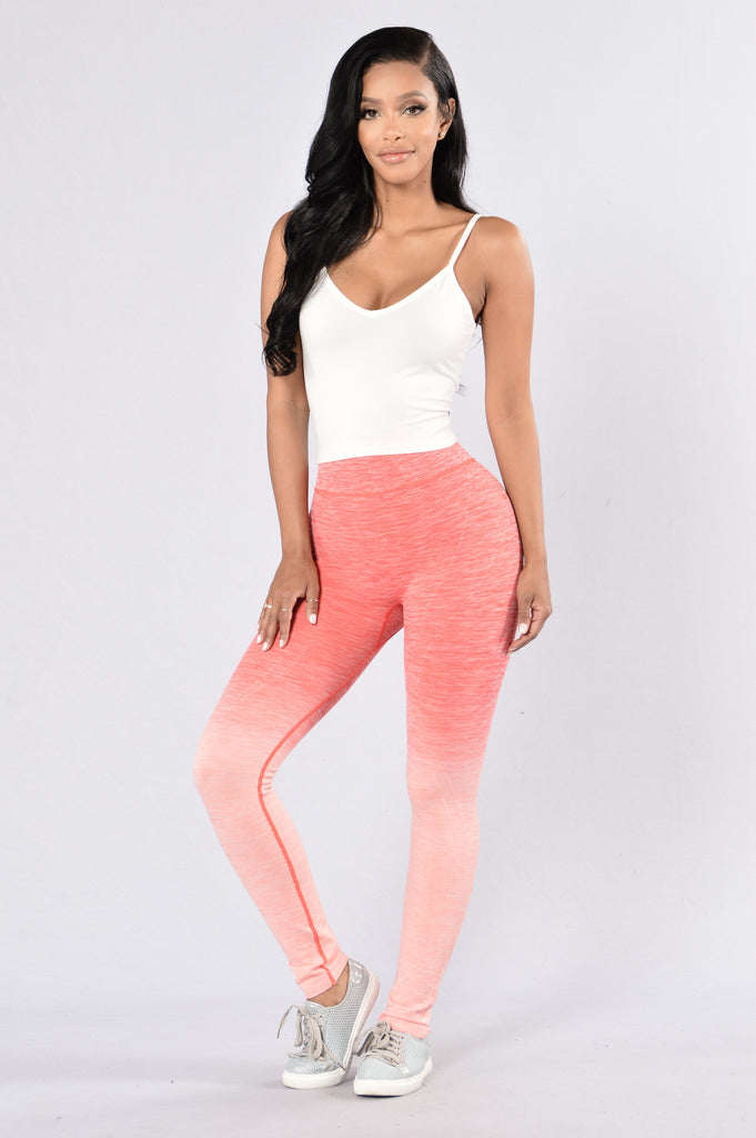 Double Dip Leggings - Coral