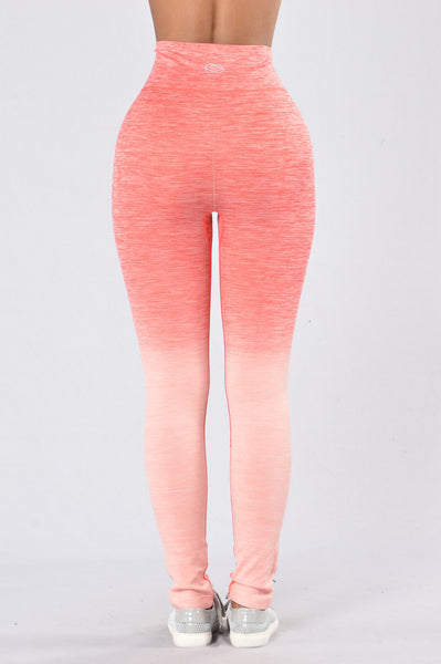 Double Dip Legging - Coral