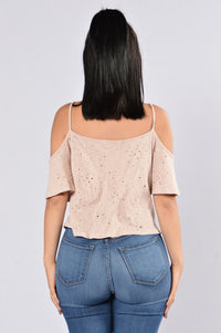 Chill Day Top - Dusty Rose Angle 2