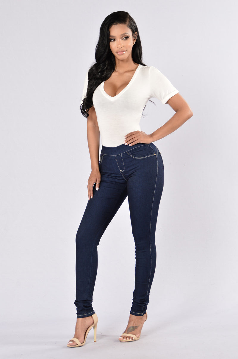 Bootify Butt Shaping Jegging - Blue Black